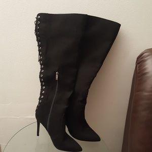 black long high boot.